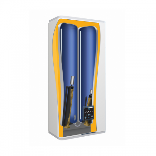 Termo eléctrico Thermor Onix Connect 50 con doble depósito vitrificado y doble resistencia envainada Horizontal / Vertical