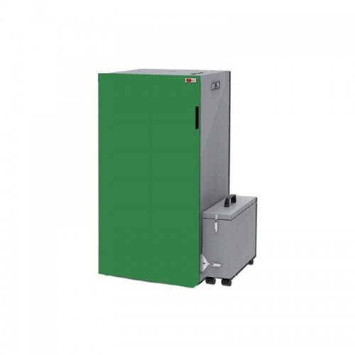 Caldera de pellets autolimpiable con compactador de cenizas AMG Boiler 20 PA para agua y calefacción