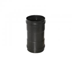 Manguito M-H de 100 mm para tubo de acero vitrificado negro Dinak Deko Pellets