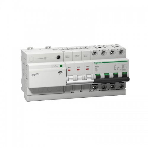 Limitador de sobretensiones transitorias y permanentes trifásico Schneider 16306 Combi SPU 3P+N 32A