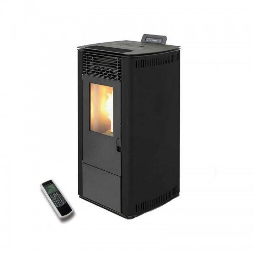 Estufa de pellets de 7 kW AMG de alta eficiencia (WiFi opcional) de color negro