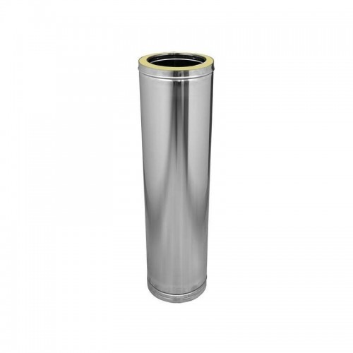 Tubo DP en acero inox 304 de Ø 250 mm Dinak para calderas (un metro)