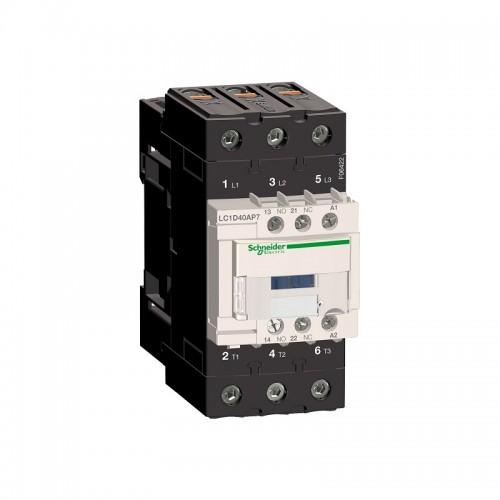 Contactor Schneider LC1D40AP7 Tesys D - 3P(3 NO) - AC-3 440V 40 A - 230 V CA bobina