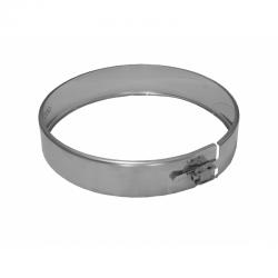 Abrazadera unión tubo de doble pared 80 en acero inoxidable Dinak DW Pellets 030908070DW