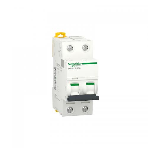 Interruptor automático magnetotérmico SCHNEIDER A9K24263 iC60N 2P 63A curva C fase y fase