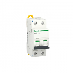 Magnetotérmico 63A 1P+N SCHNEIDER A9K24663 iC60N iK60N Curva-C