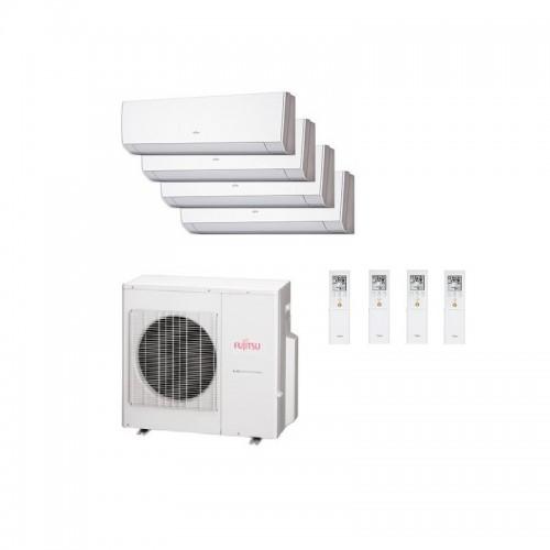 Aire acondicionado 4x1 Fujitsu AOY80UI-MI4 + ASY 3.5 + 2.5 + 2.5 + 2 kW