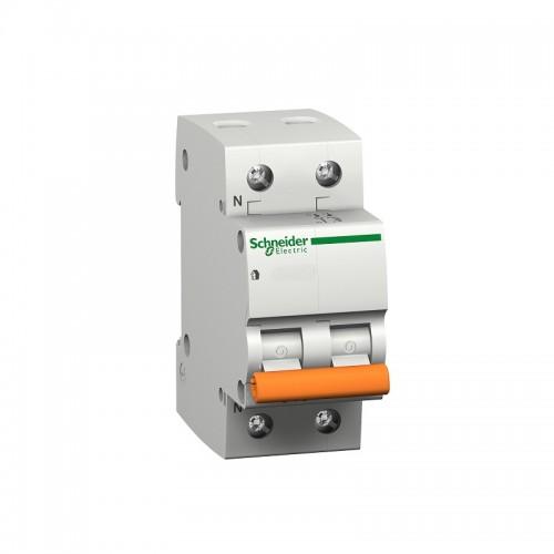 Magnetotérmico 1P+N de 20A vivienda SCHNEIDER 12510 - Domae C 230V 6000A