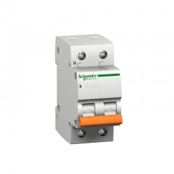 Magnetotérmico 1P+N de 32A residencial SCHNEIDER 12512 - Domae C 230V 6000A