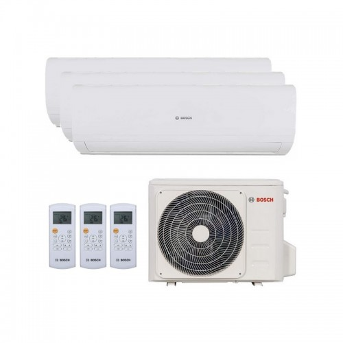 Aire Acondicionado 3x1 silencioso Bosch Set Multi Climate 5000 R32 de 3.5+2.6+2.6 kW