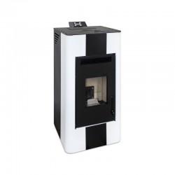 Estufa pellets canalizable de 14 kW blanca o burdeos ENERGY FIRE 15 A+ color blanco