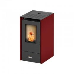 Estufa de pellets pequeña Ferroli Lira Slim para calefacción con biomasa de 6.5 kW