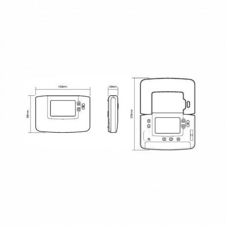 Termostato digital ambiente diario Chronotherm Honeywell CM901