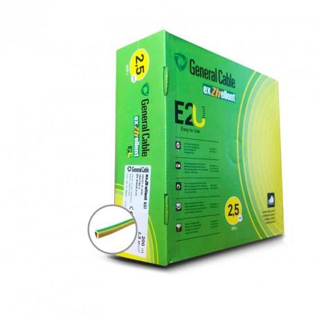 Cable eléctrico libre de halógenos unifilar EXZHELLENT-XXI 2,5mm2