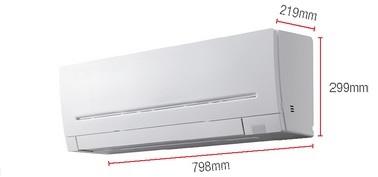 Dimensiones Aire acondicionado MSZ-AP25VG
