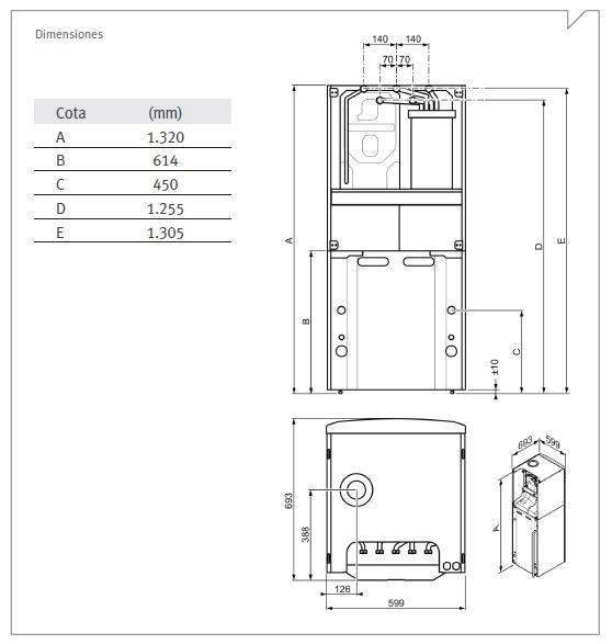 Dimensiones Duomax Convens 35/90L