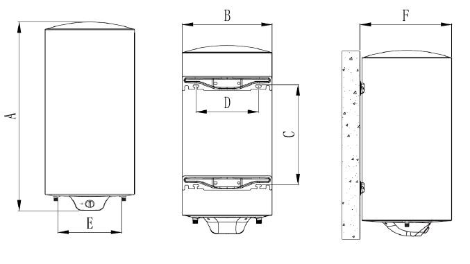 Dimensiones de Termo Eléctrico Nofer SB-N