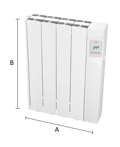 Dimensiones del radiador eléctrico Ducasa AVANT WIFI 600