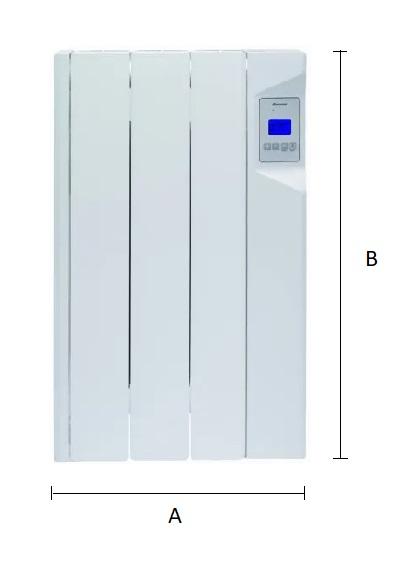 Dimensiones del emisor térmico eléctrico Ducasa AVANT DGP-E-LC 450 W