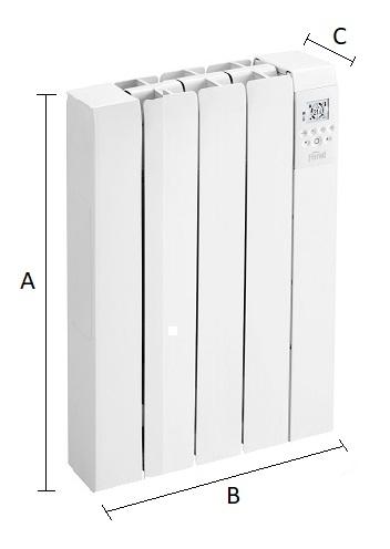 Dimensiones del emisor térmico eléctrico Ferroli Rimini DP 50