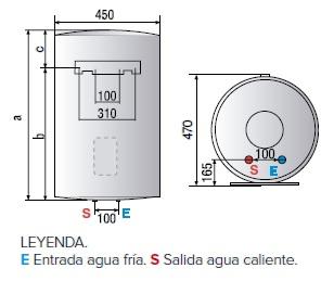 Dimensiones del Termo eléctrico Ariston Lydos PLUS vertical