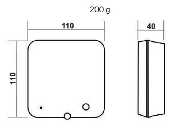 Dimensiones Caja Receptor Termostato Honeyweel