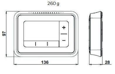 Dimensiones Termostato Honeywell T4