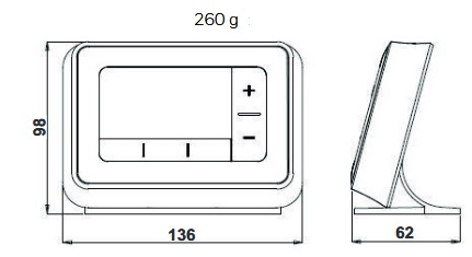 Dimensiones Termostato Honeywell T4R