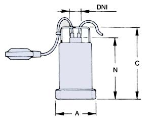 Dimensiones de bomba sumergible Turbo 55 HASA
