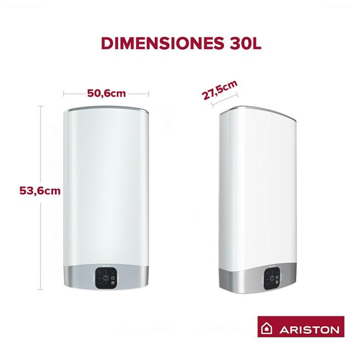 Dimensiones termo Ariston VELIS EVO 30