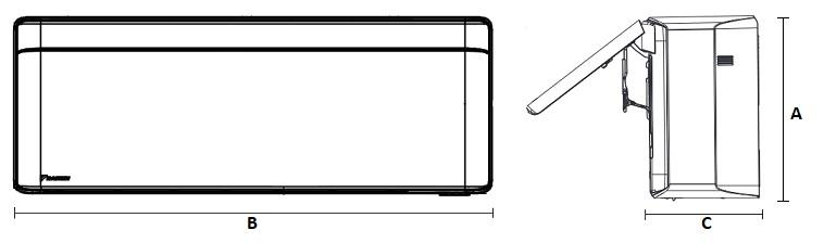 Dimensiones Unidad Interior de Daikin Aire Acondicionado Inverter TXA35BS