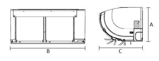 Dimensiones Unidad Interior de Daikin Aire Acondicionado Inverter TXZ35N