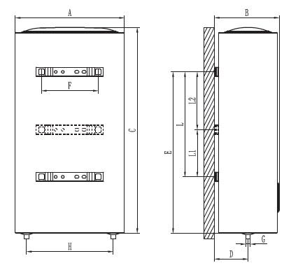 Dimensiones de Termo eléctrico vertical Ferroli Titano Twin