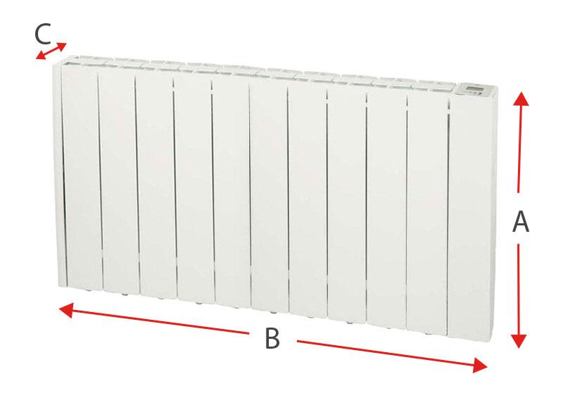 Dimensiones del radiador eléctrico Soler y Palau EMI-TECH 10