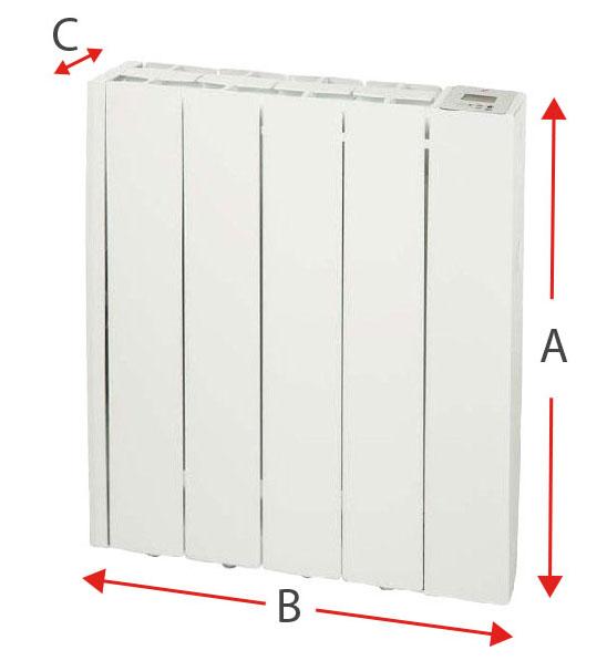 Dimensiones del radiador eléctrico Soler y Palau EMI-TECH 4