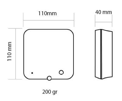 Medidas del receptor Termostato Wifi Honeywell Lyric T6