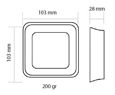 Medidas del Termostato Wifi Honeywell Lyric T6 Inteligente